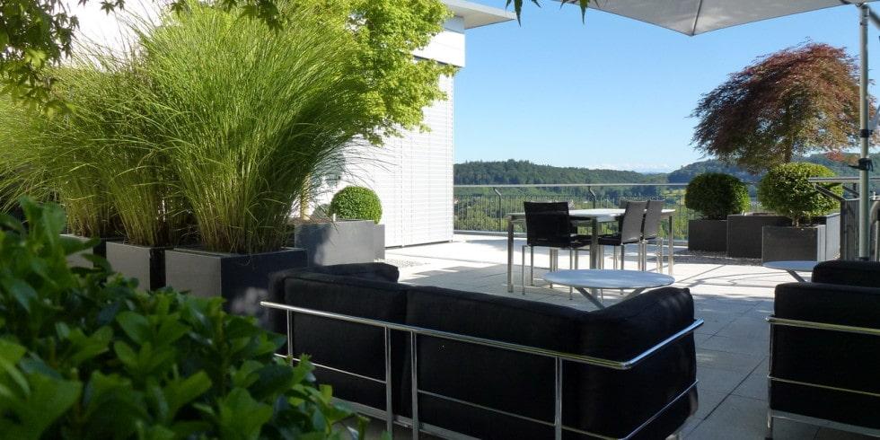 Terrassengestaltung mit wasserbecken  Schattenspiele, Blätterrascheln und einzigartige Farbakzente ...